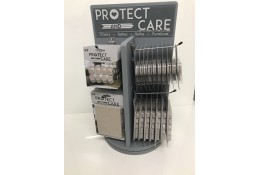 Protect and Care Wooden Counter Top Rotary Display Stand