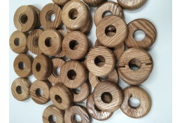 Bulk Bag of Pipe Rosette/ Covers – Solid Wood – Natural – Can be stained – STR201