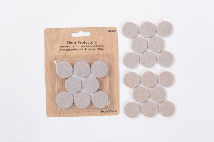 16-Piece Felt Packet – 1 Inch (25mm) Diameter – 5mm Thick – STR11