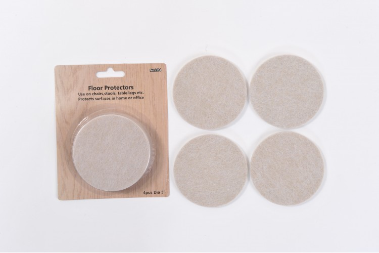 4-Piece Felt Packet – 3-inch (75mm) Diameter – 5mm Thick – Small Own Card – STR-13-SOC