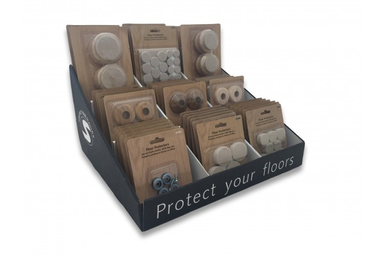 90-Packet MULTI Self-Adhesive Felt Display Stand Standard – STR200