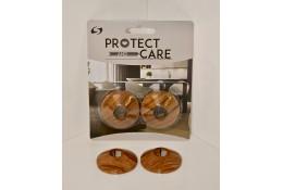 Pack of 2 Pipe Rosette/ Covers – Walnut plastic – STR05