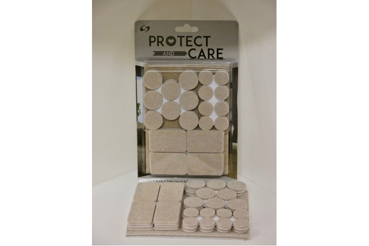 42-Piece Multi Pack Self-Adhesive Felt Pads – 5mm Thick – STR10